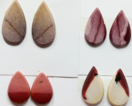 25.15 CTS -  4 SETS OF MOOKAITE JASPER  PAIR PARCEL DEAL