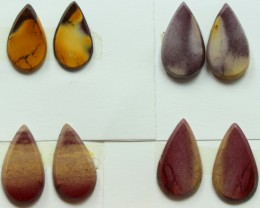 24.00 CTS -  4 SETS OF MOOKAITE JASPER  PAIR PARCEL DEAL