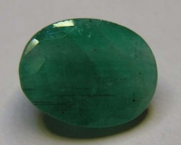3.64 CTS OVAL FACTED EMERALD  11380