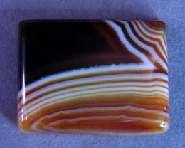 18 CTS HAND PICKED RECT  BANDED AGATE   11 548