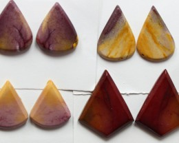 65.95 CTS -  4 SETS OF MOOKAITE JASPER  PAIR PARCEL DEAL