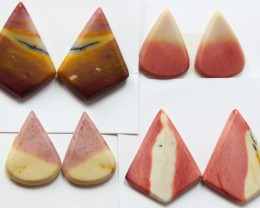 87.40 CTS -  4 SETS OF MOOKAITE JASPER  PAIR PARCEL DEAL
