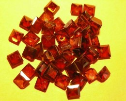 15.12 CTS PARCEL 5X5  FACETED GARNET GEMSTONES  11 389