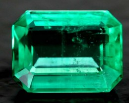 CERTIFIED EMERALD FACETED GREEN STONE 2.87  CTS SKU-OCG