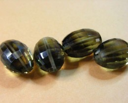 51.25 CTS BI COLOUR GOLD BLACK AMETRINE BEADS  11 204