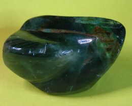 840 CTS  GREEN FLUORITE  SPECIMEN POLISHED 11 513