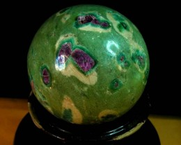 1930 CTS SPHERE  RUBY ZIOSITE  11 673