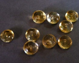 31.95 CTS parcel 10 mm lemon quartz beads  11 522