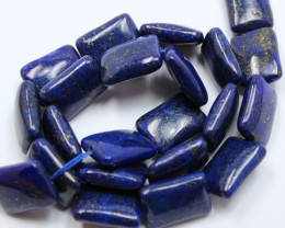 350CT AFGHANISTAN LAPIS LAZULI RECTANGULAR SHAPE 15.5 INCHES