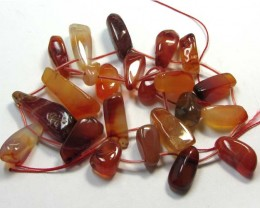 339 CTS   NATURAL AGATES GEMSTONE BEAD STRAND   GG18