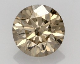 0.38 CTS FINE CHOCOLATE DIAMOND VS2  BR 0006
