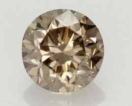 0.40CTS FINE CHOCOLATE DIAMOND VS2  BR 0007