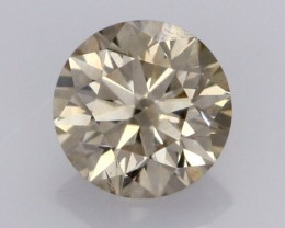 0.39 CTS FINE CHOCOLATE DIAMOND VS2  BR 0017