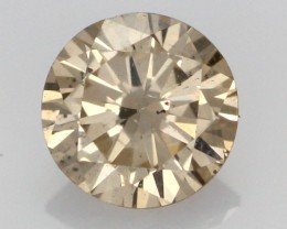0.40 CTS FINE CHOCOLATE DIAMOND SI1  BR 0004