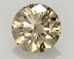 0.39 CTS FINE CHOCOLATE DIAMOND SI1  BR 0008