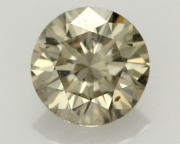 0.40 CTS FINE CHOCOLATE DIAMOND SI1  BR 0009