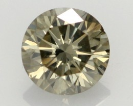 0.43 CTS FINE CHOCOLATE DIAMOND SI1  BR 0010