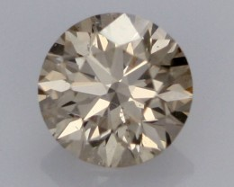 0.39 CTS FINE BROWN DIAMOND SI1  BR 0019