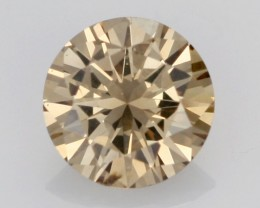 0.43 CTS FINE BROWN DIAMOND SI1  BR 0020