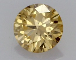 0.21 CTS FINE RUSSIAN YELLOW  DIAMOND VS2  DMY 0008 FREE SHIPPING