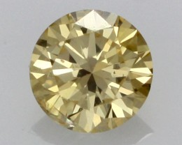 0.19 CTS FINE RUSSIAN YELLOW  DIAMOND SI1  DMY 0010