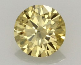 0.27 CTS FINE RUSSIAN YELLOW  DIAMOND SI1  DMY 0003