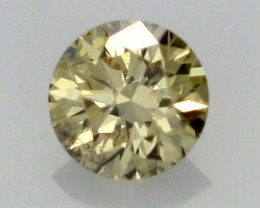 0.18 CTS FINE RUSSIAN YELLOW  DIAMOND SI1  DMY 0007