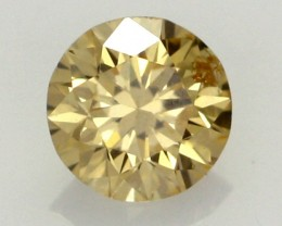 0.20 CTS FINE RUSSIAN YELLOW  DIAMOND SI1  DMY 0006