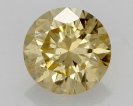 0.34 CTS FINE RUSSIAN YELLOW  DIAMOND I1  BR 0011
