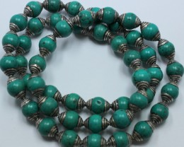 415 CTS NEPAL / AFGHANISTAN TURQUOISE BEADS STRAND 26 INCH P259