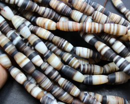 235 CTS 1 STRAND AGATE BEADS 20 X 15 MM 15 INCHES