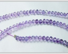 38cts Natural Brazil Amethyst Faceted Beads J83