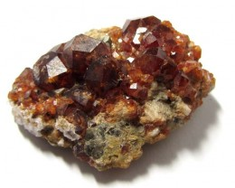 144CTS BRAZILAN GARNET ON HOST ROCK MS 1393