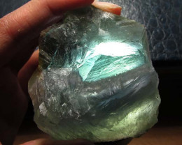 84.6 CTS NATURAL  FLUORITE ROUGH  MS 1446