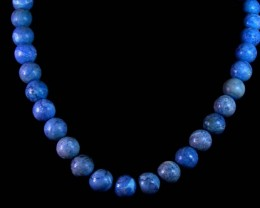 398 CTS CHALCENDONY 11 MM  BEAD STRAND   11 706