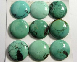 78 CTS PARCEL  9 TURQUOISE STONES   GG 72