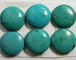 60 CTS PARCEL  6 TURQUOISE STONES   GG 73