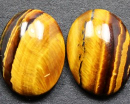 13.10 CTS TIGER EYE PAIR SHIMMERING STONES