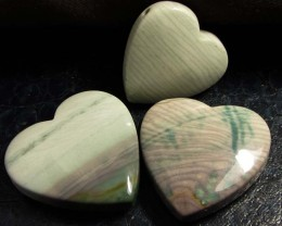 390CTS THREE WAVE HEART JASPER BEADS  MS 1359