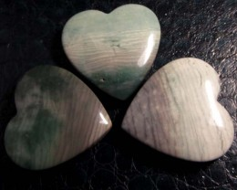 390CTS THREE WAVE HEART JASPER BEADS  MS 1462
