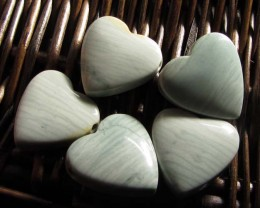 207 CTS FIVE WAVE HEART JASPER BEADS  MS 1464