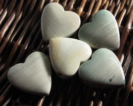 207 CTS FIVE WAVE HEART JASPER BEADS  MS 1467