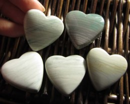 207 CTS FIVE WAVE HEART JASPER BEADS  MS 1469