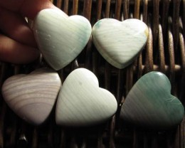 207 CTS FIVE WAVE HEART JASPER BEADS  MS 1471