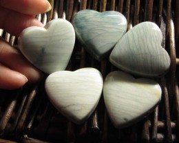 207 CTS FIVE WAVE HEART JASPER BEADS  MS 1474