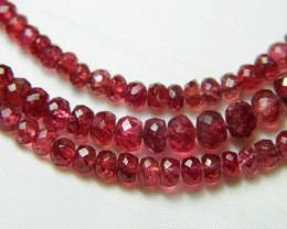 100% Natural Burma Red Spinel Faceted Beads J58
