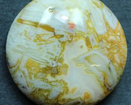 72.30 CTS SAGENITE AGATE CABOCHON STONE FROM OLD COLLECTION