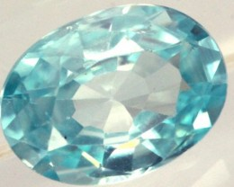 BLUE ZIRCON FACETED STONE 0.90 CTS PG-1034