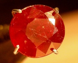 CERT 2.18 CTS FACETED CUT RED RUBY  11 804
