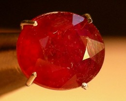 CERT 2.05 CTS FACETED CUT RED RUBY  11 805